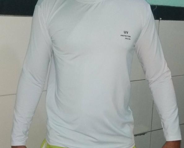 Camisas uv manga longa com proteção solar - Foto 3