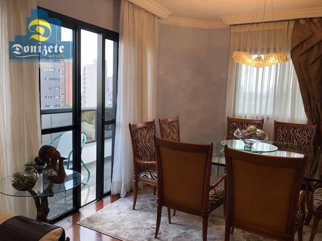 Apartamento com 3 dormitórios à venda, 150 m² por r$ 550.000,01 - vila bastos - santo andr - Foto 2