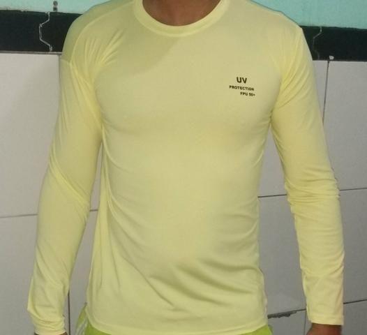 Camisas uv manga longa com proteção solar - Foto 4
