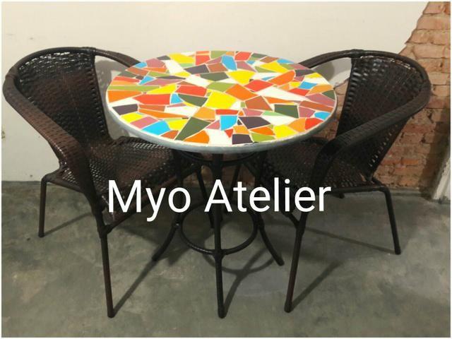 Mesa sacada, mesa varanda, moveis, conjunto de mesa - Foto 4