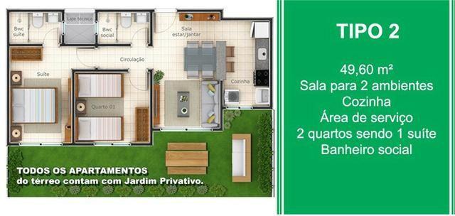 O Maior e Melhor Apartamento da Região - 2 e 3 Quartos, Suíte, Elevador e Jardim - Foto 9
