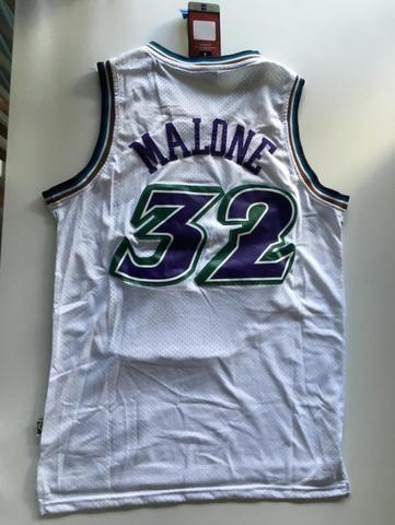 official photos f28e8 53bf8 Nba Basquete Utah Jazz Karl Malone Retro Jersey Uniforme