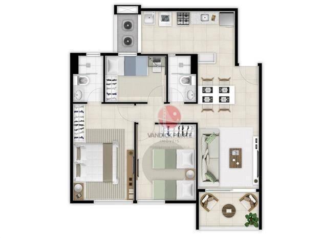 Apartamento com 2 dormitórios à venda, 56 m² por R$ 500.000,00 - Benfica - Fortaleza/CE - Foto 13