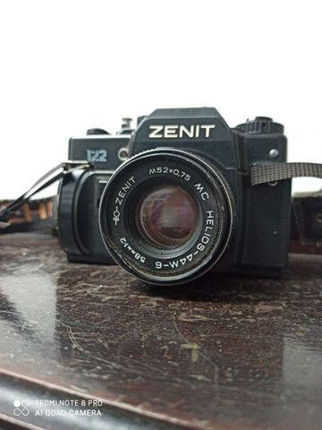 Camera fotográfica Zenit máquina antiguidade - Foto 2