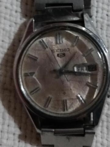 Relógio de Pulso Seiko 5 Raro 6119-7010