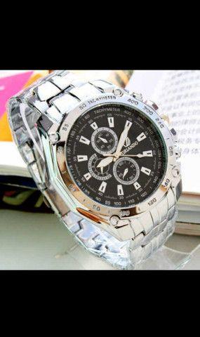 Relógio de Luxo Masculino de Quartzo/Relógio de Aço Inoxidável Geneva para Homens - Foto 6