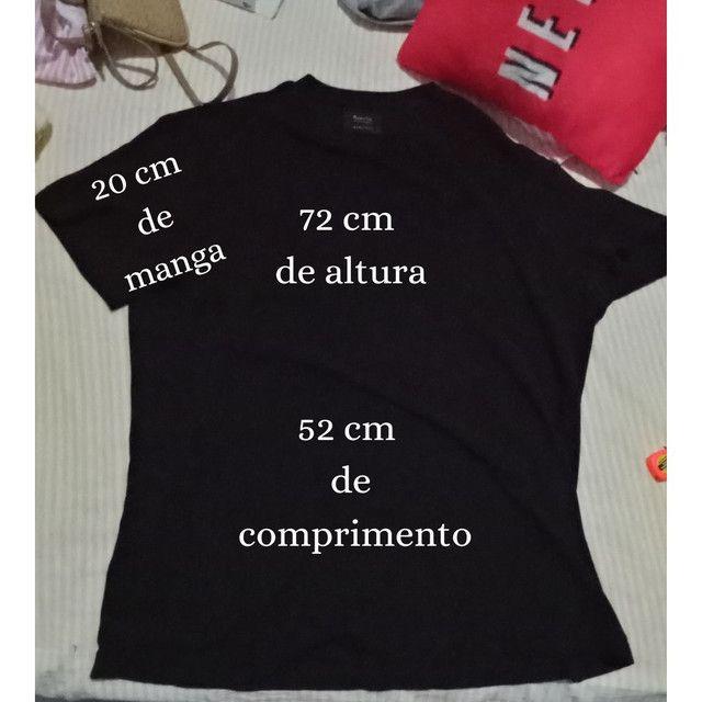 Camiseta de algodão canelada oversized Tamanho M