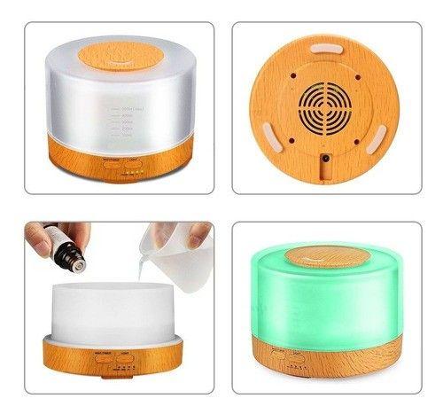Difusor De Oleos Essenciais Eletrico 500ml Controle Remoto - Foto 2