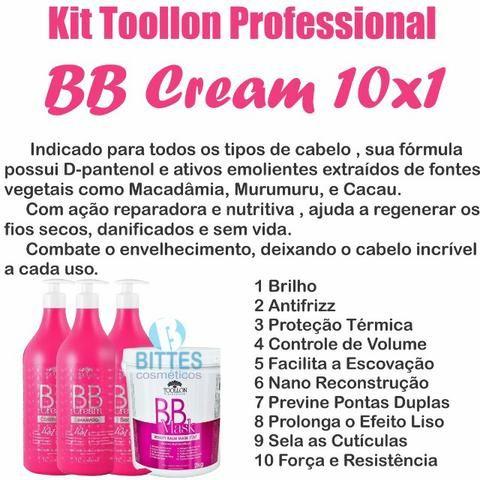 Kit BB Cream Toollon Profissional Hidratação Capilar Cabelos cauterizados e Reconstruídos - Foto 2