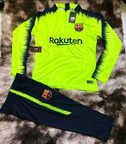 f4d725483af74 Conjunto agasalho Barcelona de treino calça e blusa - Roupas e ...