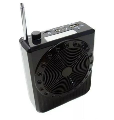Megafone Portatil Amplificador Kit Professor Com Radio Fm, Microfone E Usb E Sd Recarrega - Foto 6