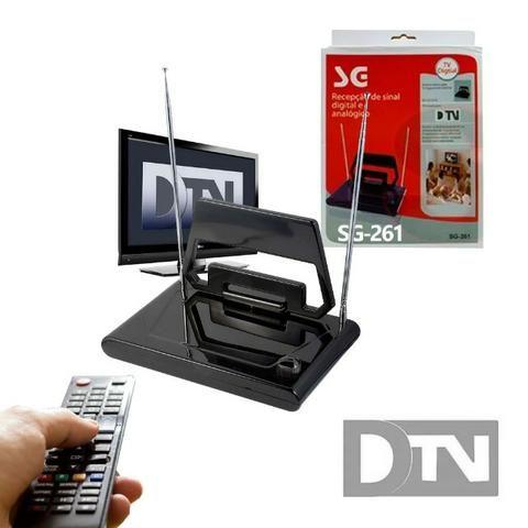 Antena Digital Interna SG-261 SG com Hastes e Seletor Vhf Uhf Fm Hdtv