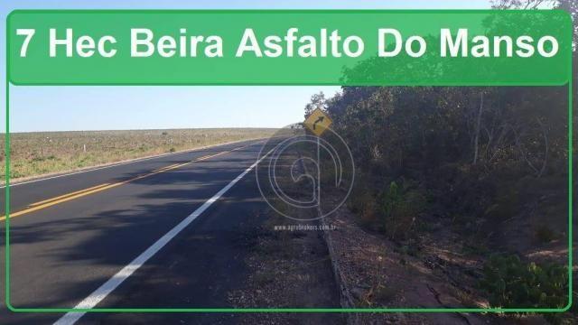 Chácara 7 hec na beira do asfalto estrada do manso à venda por r$ 120.000,00