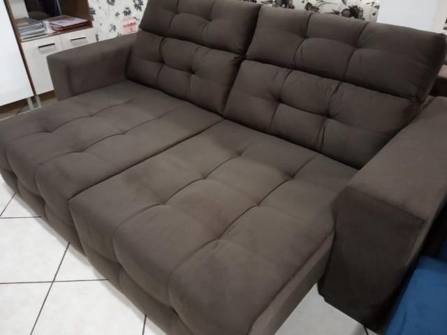 Sofá 2,45 Retrátil e Reclinável direto da fábrica - Foto 4