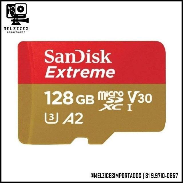 Cartão SanDisk Extreme 128GB Original Lacrado! - Foto 2