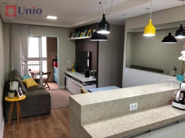 Apartamento com 3 dormitórios à venda, 68 m² por R$ 390.000 - Alto - Piracicaba/SP - Foto 2
