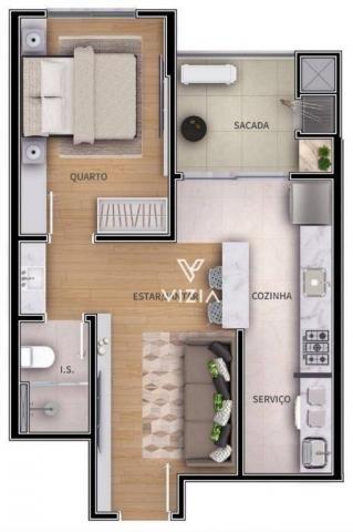 Apartamento com 1 dormitório à venda, 41 m² por R$ 315.000,00 - São Francisco - Curitiba/P - Foto 8