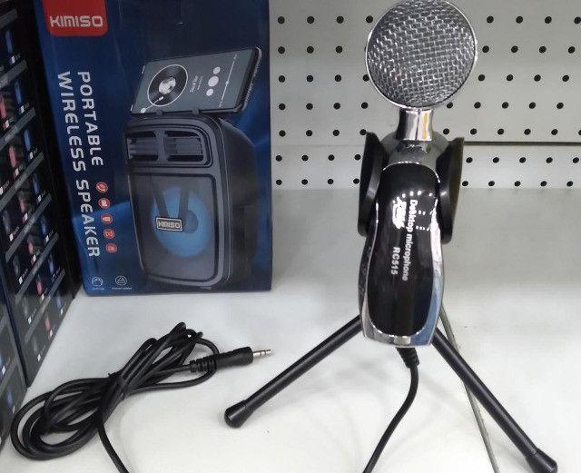 Microfone Profissional Condensador Mesa Desktop Youtuber com Tripé RC515 - Foto 3