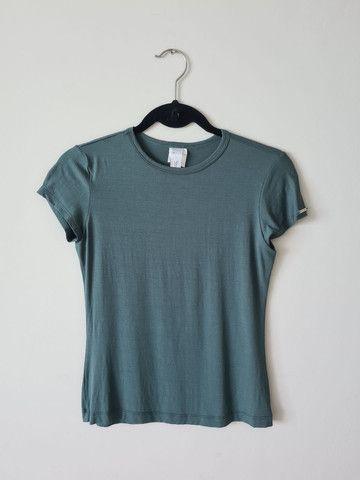 Camisa malha verde petróleo - tam M
