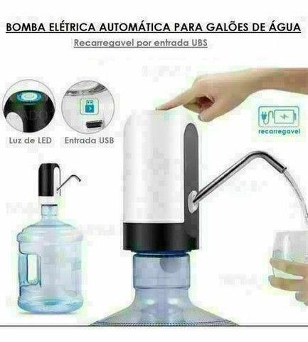 Bomba Elétrica Recarregável Para Galão de Água<br>