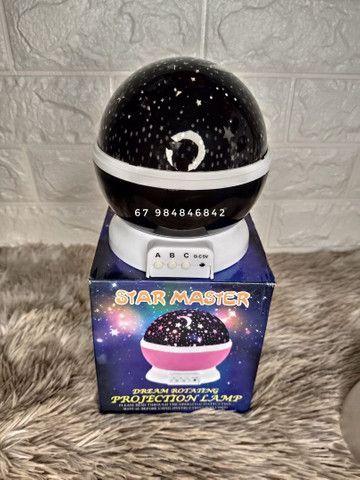 Luminária Luar abajur Projeta estrelas (entrega grátis)<br>