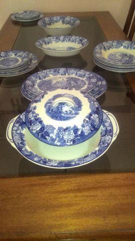 Peças De Jantar, Porcelana Inglesa importada, Original Wood & Sons  - Foto 4