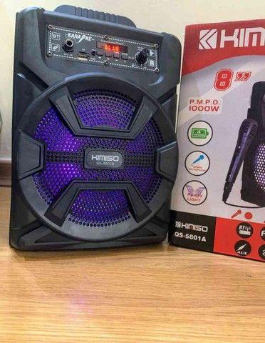 Caixa de Som Kimiso 5801B com 100pw de potência - Foto 4