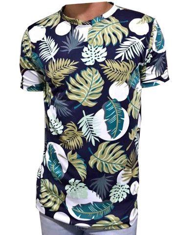 Kit 60 camiseta floral adulta - Foto 5