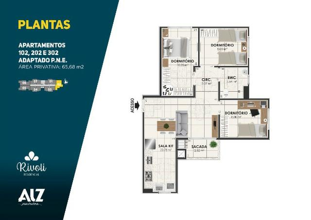 Apartamento 3 dormitórios, Minha Casa, Minha Vida, Pagani - Palhoça - Foto 12