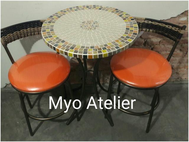 Mesa sacada, mesa varanda, moveis, conjunto de mesa - Foto 3