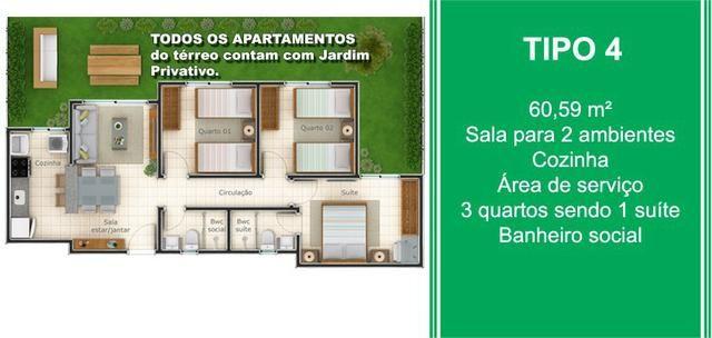 O Maior e Melhor Apartamento da Região - 2 e 3 Quartos, Suíte, Elevador e Jardim - Foto 10