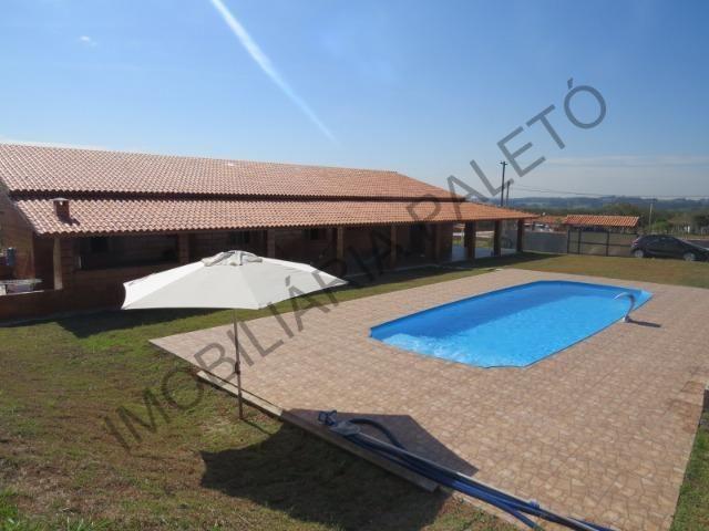 REF 225 Chácara 1187 m², casa novinha, ampla piscina, Imobiliária Paletó