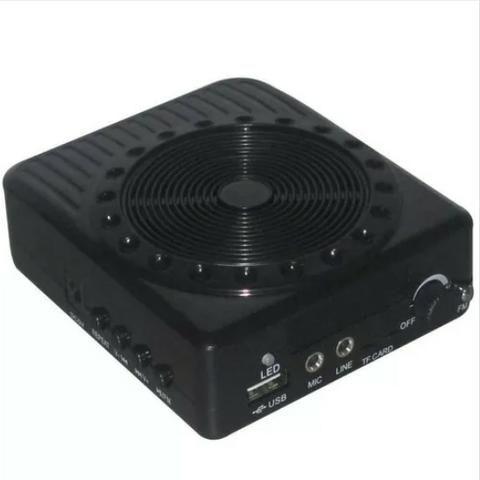 Megafone Portatil Amplificador Kit Professor Com Radio Fm, Microfone E Usb E Sd Recarrega - Foto 5