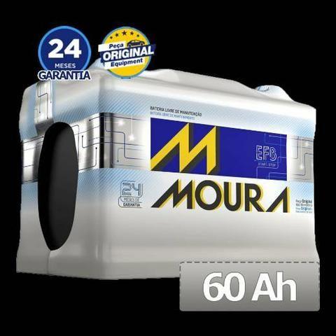 Bateria Moura 60ampéres 350,00 2 anos de garantia