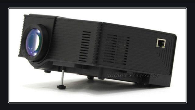Mini Projetor Tomate Modelo Mpr-7009 / 900 Lúmens Android Wi-fi Bluetooth - Foto 5