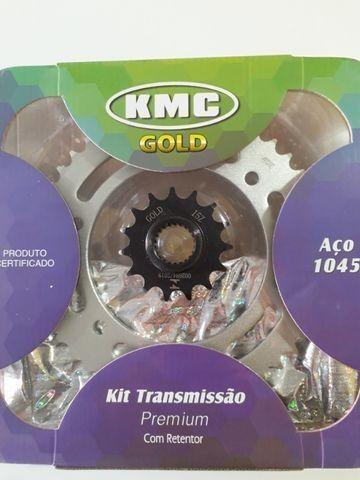 Pinhão 15 dentes KMC Gold Fazer 250 - Foto 2
