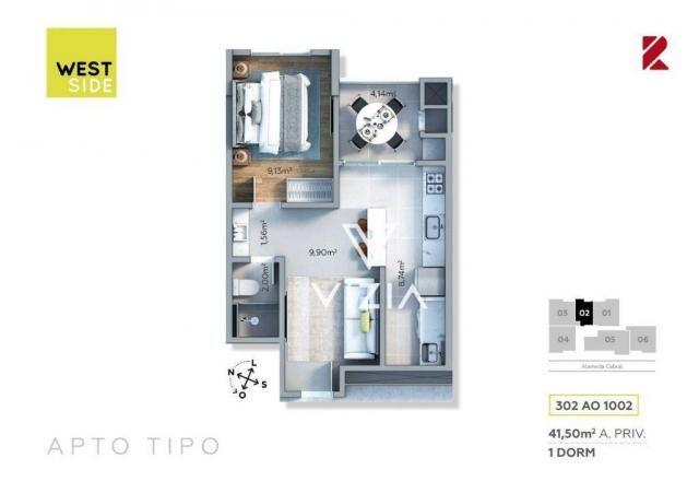 Apartamento com 1 dormitório à venda, 41 m² por R$ 315.000,00 - São Francisco - Curitiba/P - Foto 20