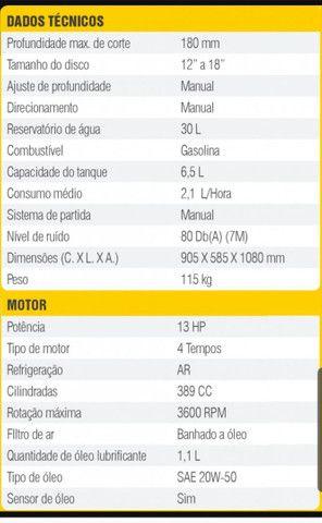 Cortador de Piso Matsuyama Gasolina 13 HP - Foto 3
