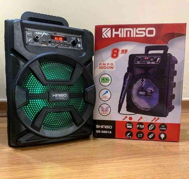 Caixa de Som Kimiso 5801B com 100pw de potência - Foto 3