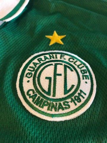 Camisa Futebol Guarani Campinas Antiga 1999 - Oficial Reebok  - Foto 4