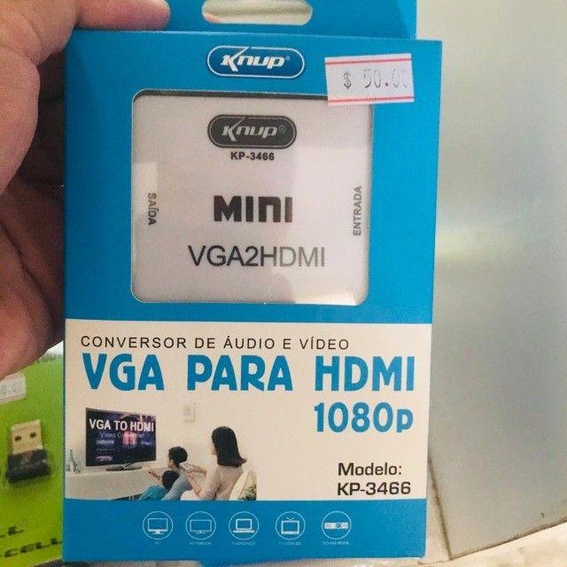 Conversor VGA para HDMI - 1080p