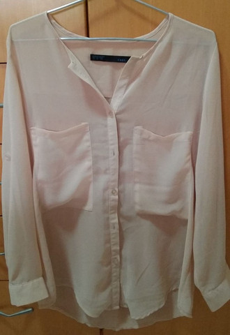 Camisa off white CBRL chiffon usada