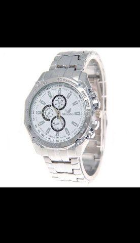 Relógio de Luxo Masculino de Quartzo/Relógio de Aço Inoxidável Geneva para Homens - Foto 2