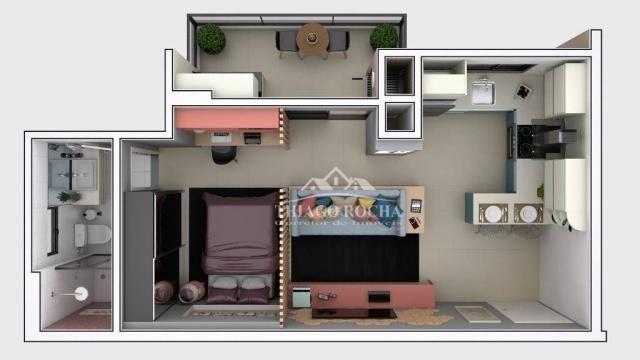 Studio com 1 dormitório à venda, 39 m² por r$ 189.000 - são pedro - são josé dos pinhais/p - Foto 10