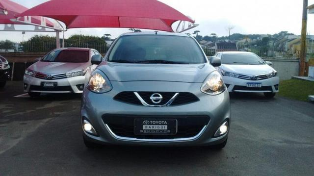 NISSAN MARCH SL 1.6 16V FLEXSTART Cinza 2015/2016 - Foto 8