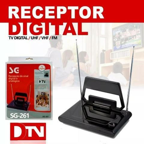 Antena Digital Interna SG-261 SG com Hastes e Seletor Vhf Uhf Fm Hdtv - Foto 5