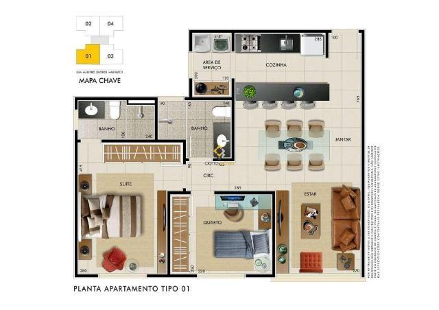 Apartamento à venda com 2 dormitórios em Castelo, Belo horizonte cod:3989 - Foto 4