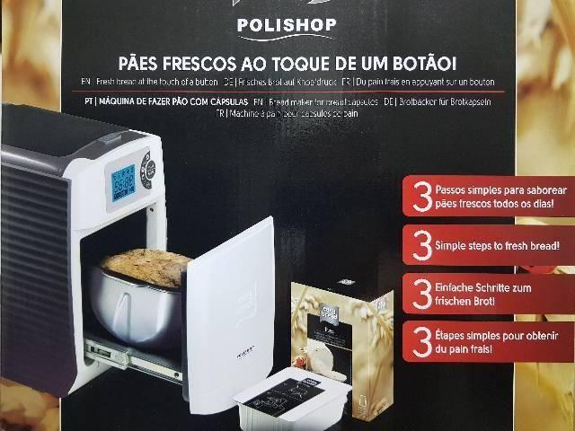 Maquina Nova de fazer pão artesanal Polishop Easy Bread - Foto 4