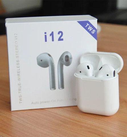 Fone de Ouvido Sem Fio I12 Tws Bluetooth Com Touch
