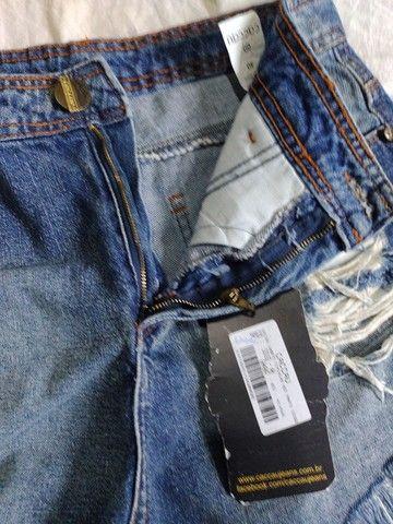 Shorts jeans Tam 40 novo - Foto 3